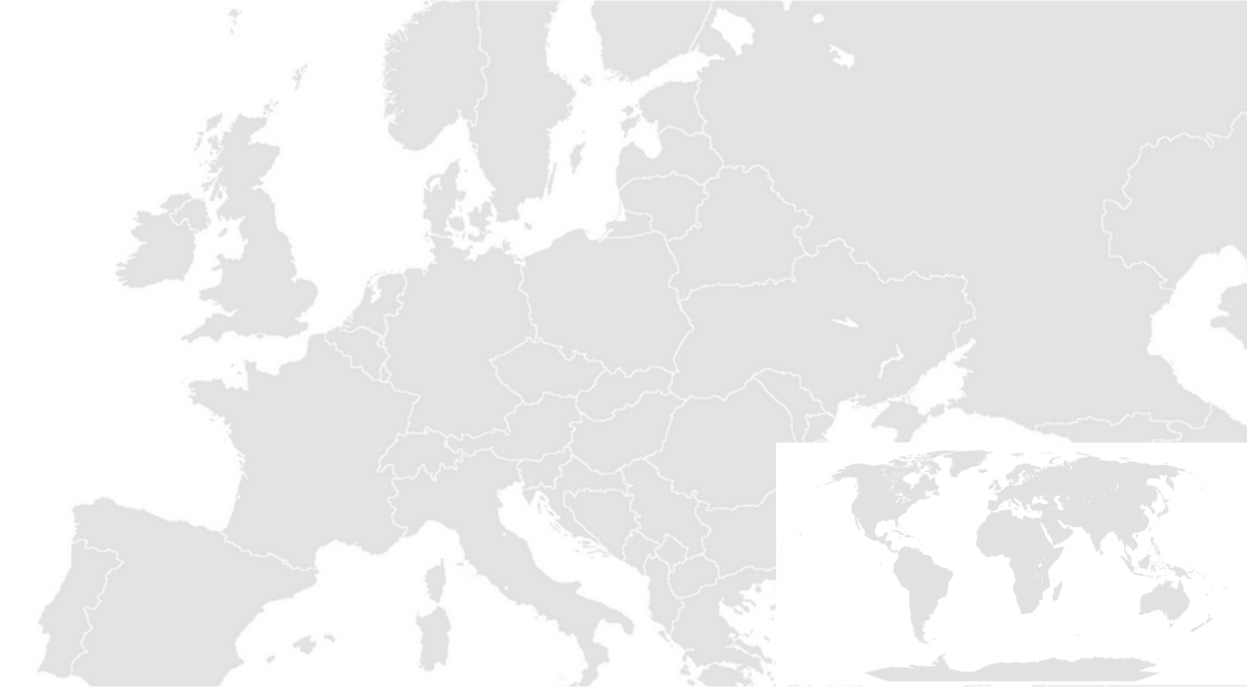 Europe map with mini map opacity 0.2